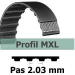 45MXL largeur 3 mm