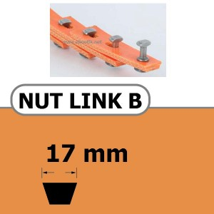 NUT LINK B 17 x 11 mm