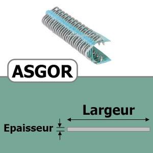 Agrafe ASGOR N2 pour 3 plis
