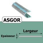 Agrafe ASGOR N6 pour 8 Plis
