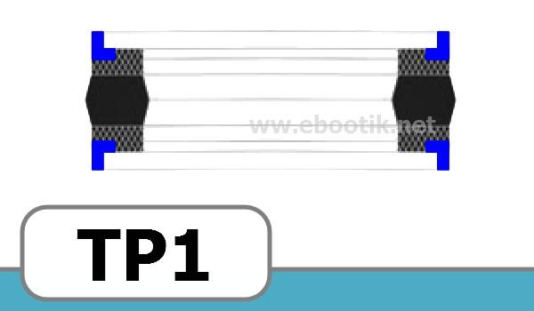 JOINTS TETE DE PISTON FORME<br>TP1