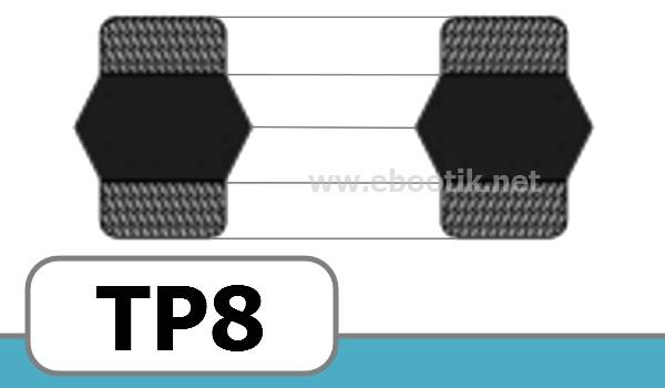 JOINTS TETE DE PISTON FORME<br>TP8
