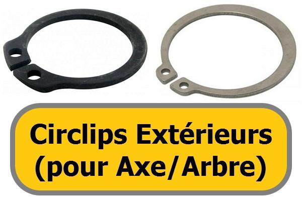 CIRCLIPS EXTERIEURS (pour arbre)