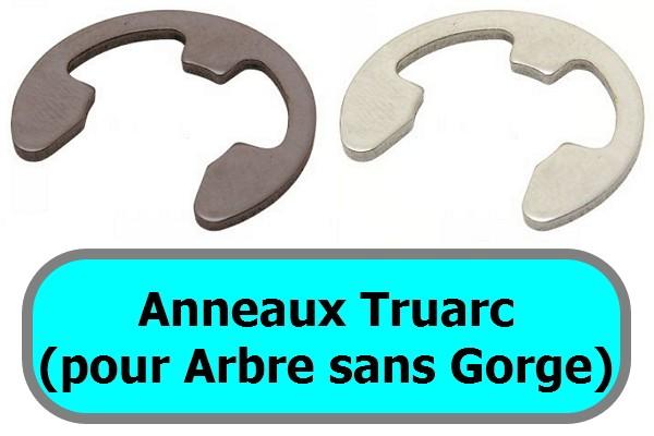 ANNEAUX TRUARC (pour arbre sans gorge)