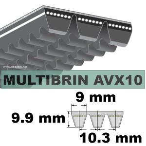 COURROIE 2xAVX10x1500 mm La/Le