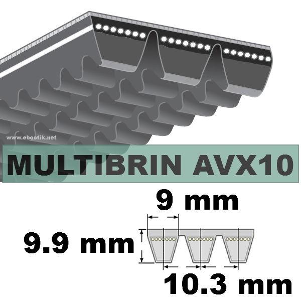 COURROIE 2xAVX10x1575 mm La/Le