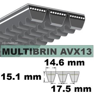 COURROIE 2xAVX13x2025 mm La/Le