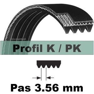 COURROIE 605PK4 Dents AUTOMOBILE