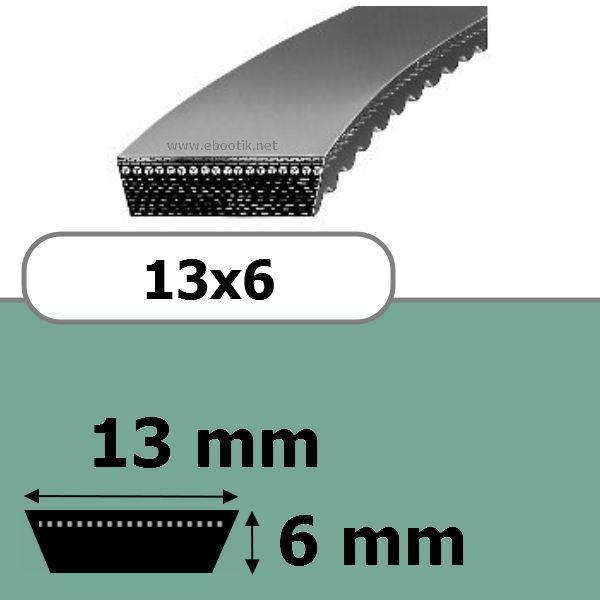 COURROIE VARIATEUR 13x6x675
