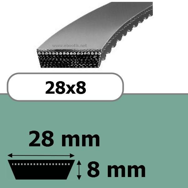 COURROIE VARIATEUR 28x8x1250