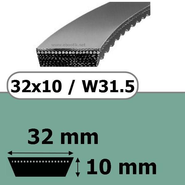 COURROIE VARIATEUR 32x10x750 = 800W31.5