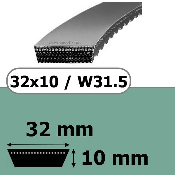 COURROIE VARIATEUR 32x10x1250