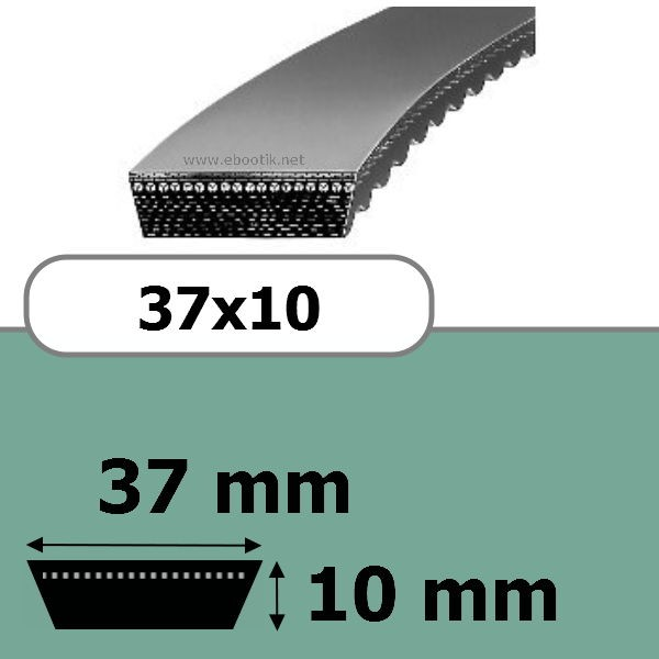 COURROIE VARIATEUR 37x10x1800