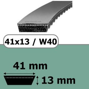 COURROIE VARIATEUR 41x13x1040 = 1100W40