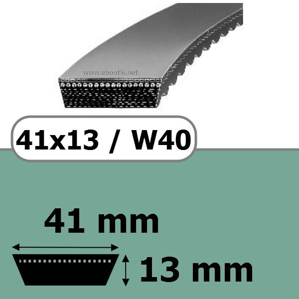 COURROIE VARIATEUR 41x13x1250