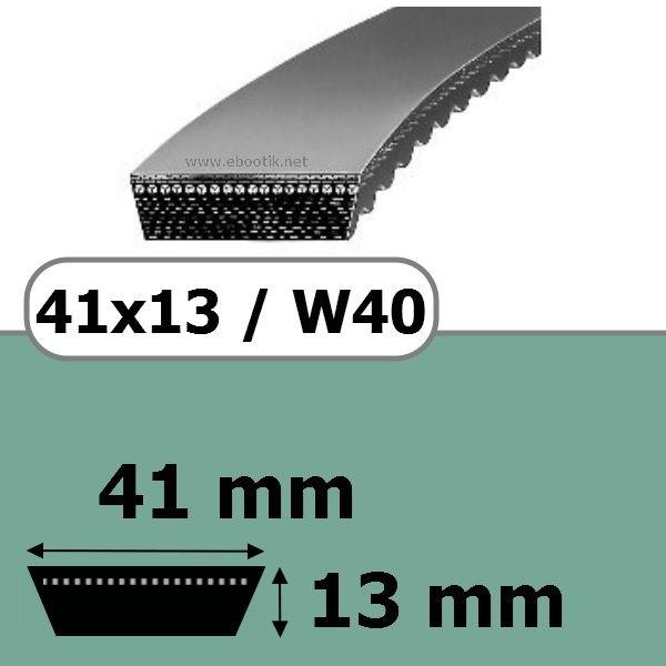 COURROIE VARIATEUR 41x13x1600 = 1660W40
