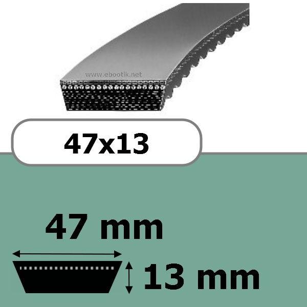 COURROIE VARIATEUR 47x13x2500