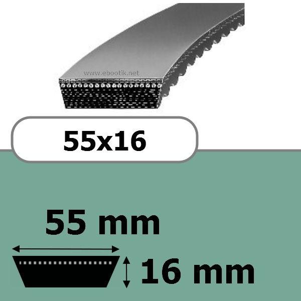 COURROIE VARIATEUR 55x16x1250