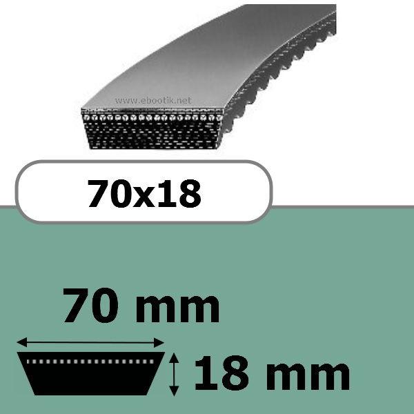 COURROIE VARIATEUR 70x18x1550