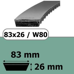 COURROIE VARIATEUR 83x26x3028 = 3150W80