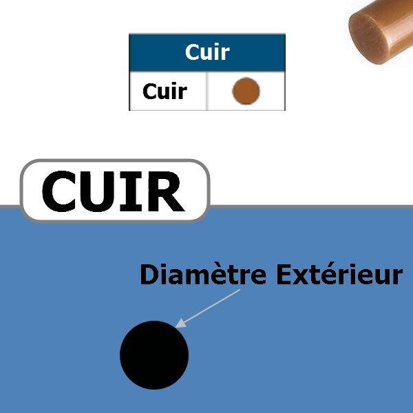Courroie ronde en Cuir pleine DIAMETRE 6 mm
