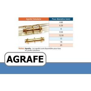 Agrafe pour courroie Tubulaire creuse DIAMETRE 9.5 mm