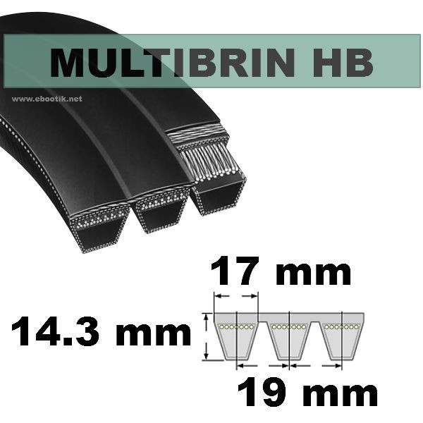 Courroie HB94 1/2x7 Brins
