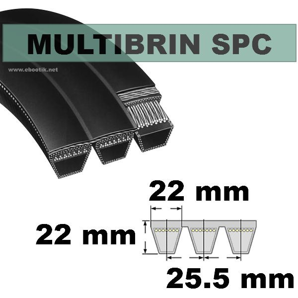 Courroie SPC2800x5 Brins