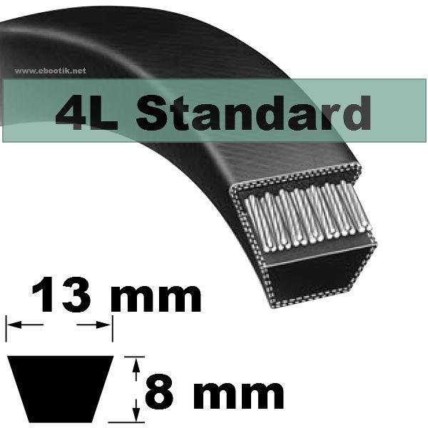 COURROIE 4L490 STANDARD (NOIRE non Kevlar)