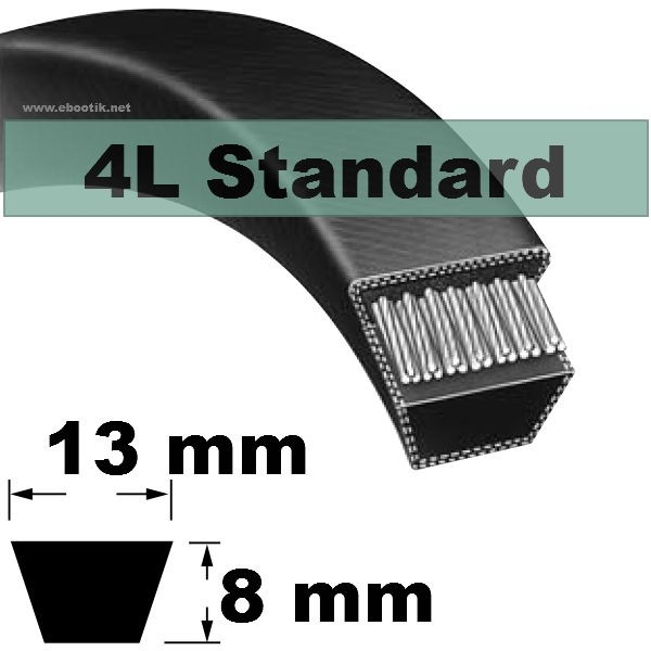 COURROIE 4L520 STANDARD (NOIRE non Kevlar)