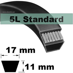 COURROIE 5L500 STANDARD (NOIRE non Kevlar)