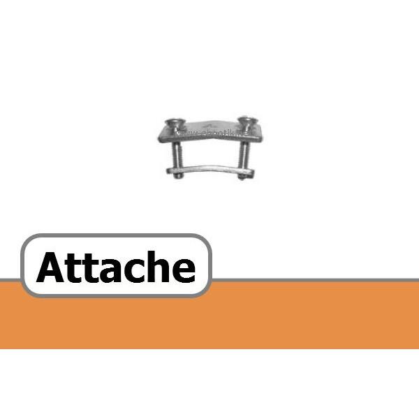 ATTACHE POUR COURROIE TRAPEZOIDALE PERFOREE 6x4 mm