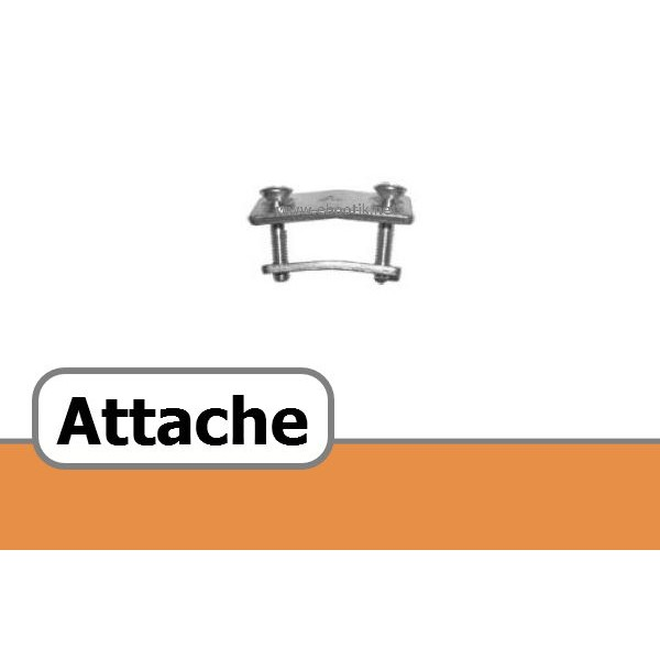 ATTACHE POUR COURROIE TRAPEZOIDALE PERFOREE A 13 x 8 mm