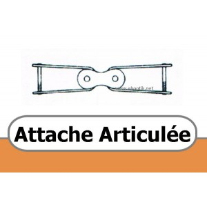 ATTACHE ARTICULEE POUR COURROIE TRAPEZOIDALE PERFOREE A 13 x 8 mm