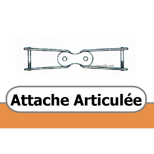 ATTACHE ARTICULEE POUR COURROIE TRAPEZOIDALE PERFOREE C 22 x 14 mm