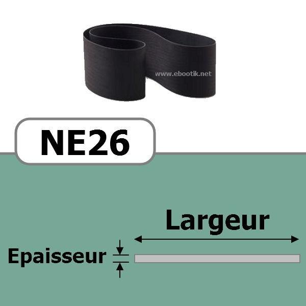 COURROIE PLATE NE26/670x10 mm