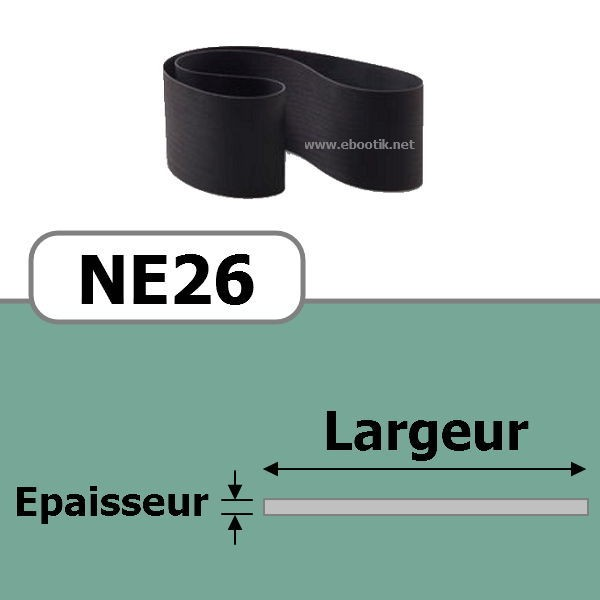 COURROIE PLATE NE26/710x15 mm