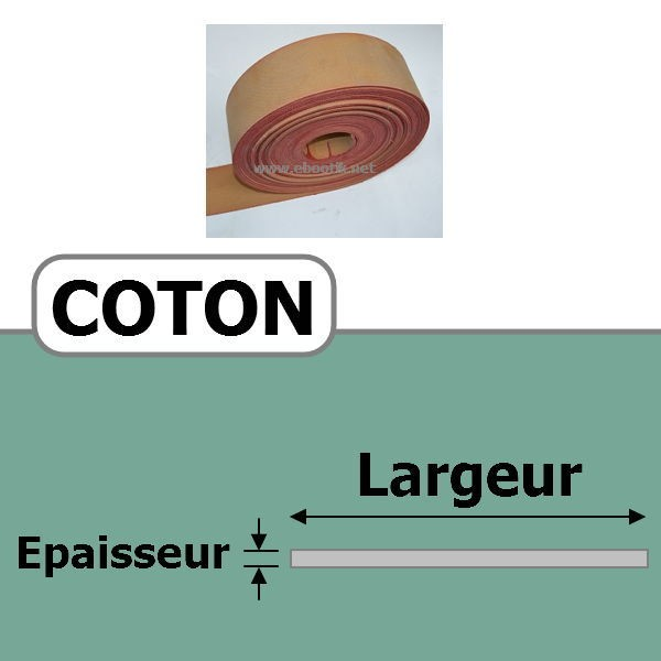 COURROIE COTON 110.00 mm x 3 Plis