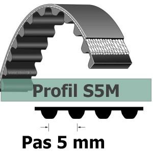COURROIE CRANTEE S5M285-15 mm