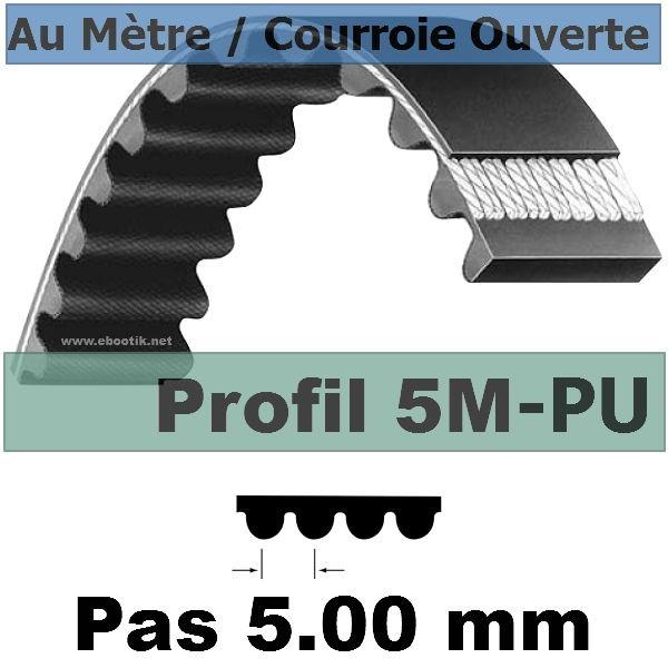 Courroie Crantée/Linéaire 5M25+PAZ POLYURETHANE Vendue au mètre