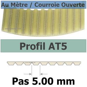 Courroie Crantée/Linéaire AT5-8 POLYURETHANE Vendue au mètre