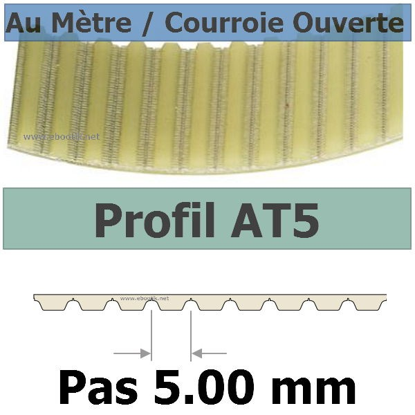 Courroie Crantée/Linéaire AT5-16 POLYURETHANE Vendue au mètre