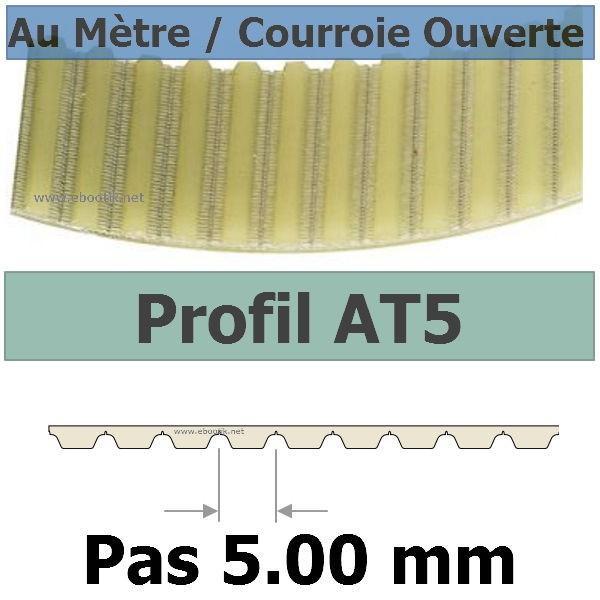 Courroie Crantée/Linéaire AT5-16+PAR/PAZ POLYURETHANE Vendue au mètre