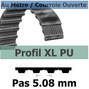 Courroie Crantée/Linéaire XL025 POLYURETHANE Vendue au mètre