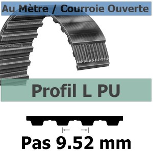 Courroie Crantée/Linéaire L100 KEVLAR POLYURETHANE Vendue au mètre