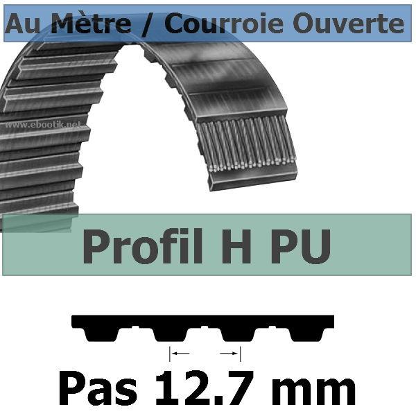 Courroie Crantée/Linéaire H075 KEVLAR POLYURETHANE Vendue au mètre