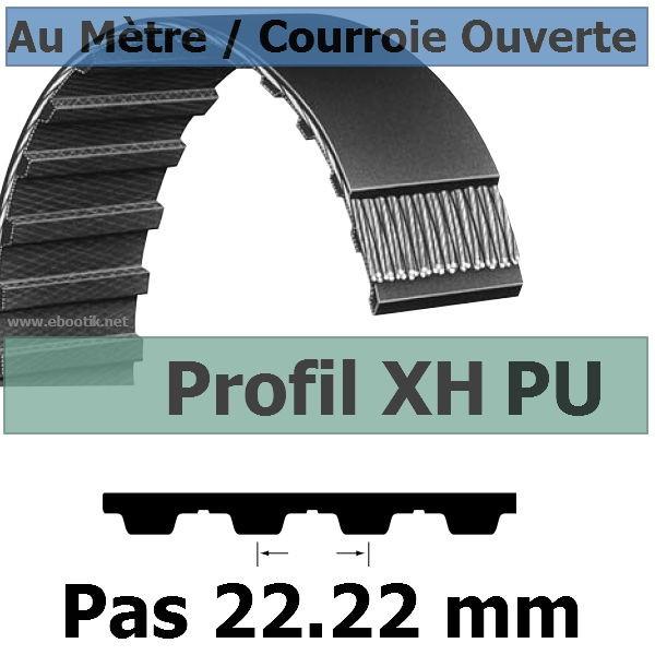 Courroie Crantée/Linéaire XH400 POLYURETHANE Vendue au mètre