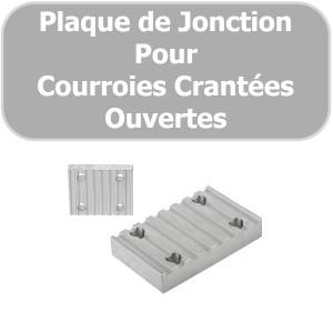 Plaque de JONCTION T10-75 mm ALUMINIUM