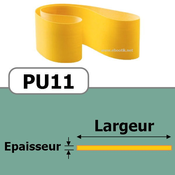 COURROIE PLATE PU11/330x30 mm