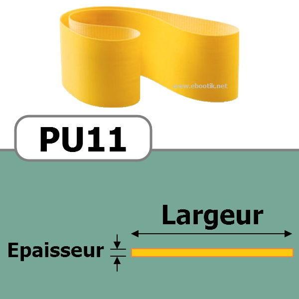 COURROIE PLATE PU11/400x25 mm